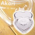 結婚記念日の記念品として名入れハートガラス小物入れ