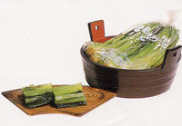 美味しい漬物 信州特産 野沢菜漬 500g