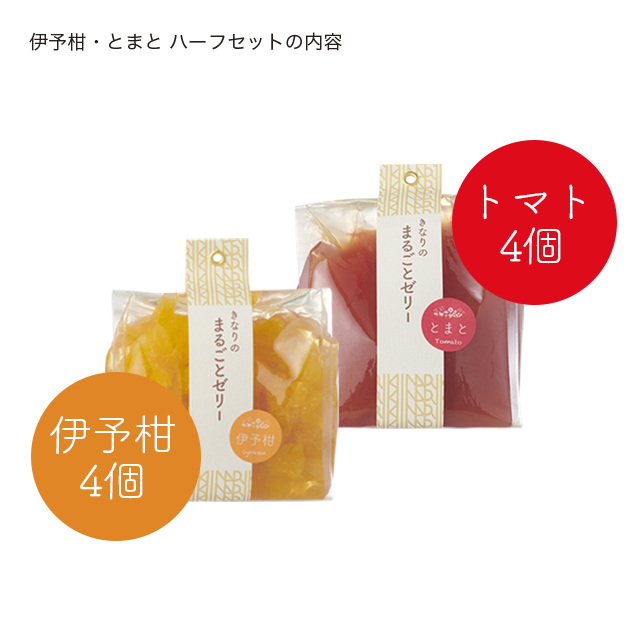 はこきなりゼリー/伊予柑トマトハーフ説明