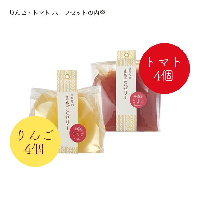 はこきなりゼリー/りんごトマトハーフ説明
