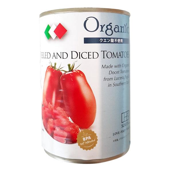 有機ダイストマト缶 【111800】