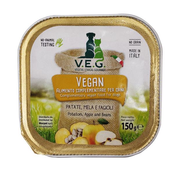 マーペット VEGAN DOG【黄色】ポテト・リンゴ・インゲン豆(冷凍同梱不可)【140760】