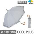【送料無料】遮光折りたたみ傘 クールプラス パゴダ(晴雨兼用) 50cm×8本骨 シャンブレーグレー 【LIEBEN-0511】