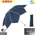 【送料無料】UV晴雨兼用折傘 フラワー ネイビー(遮熱・遮光1級) ラミネート生地  50cm×8本骨 【LIEBEN-0588】 <クールプラス>