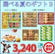 選べる 夏の ギフト B 送料無料 3,240円