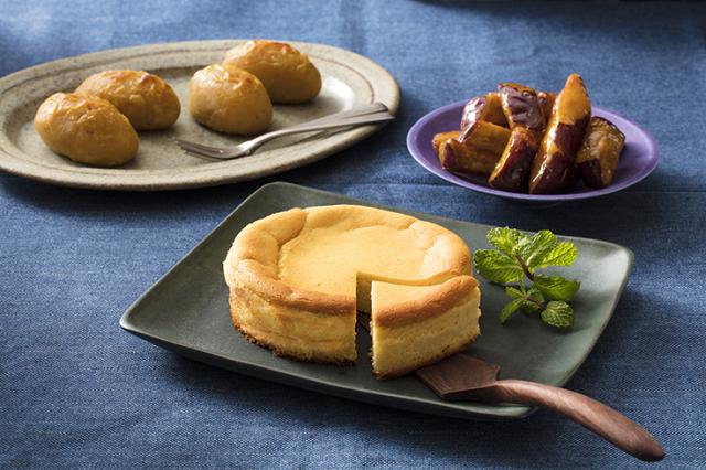 お芋専門店「サンパタータ」の冷凍スイーツ3種セット(おいものチーズケーキ、スイートポテト、大学いも)
