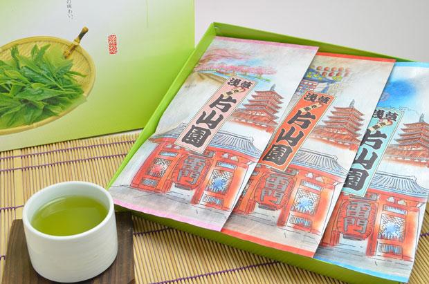 【浅草袋】【新茶(2016年産)】【全国送料無料】あき店長厳選の摘み立て新茶3本入りギフトセット