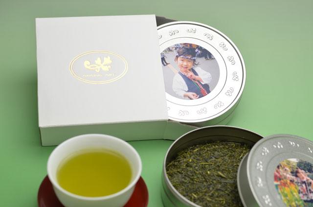 【送料無料】写真プリントCAN(1缶)お茶ギフトセット※