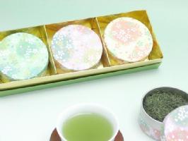 可愛い♪プチCAN(3缶)お茶ギフトセット※