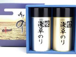 【送料無料(沖縄別)】浅草名物 おつまみ海苔 2缶 詰合わせ 海苔 味付け ギフトセット(大)※