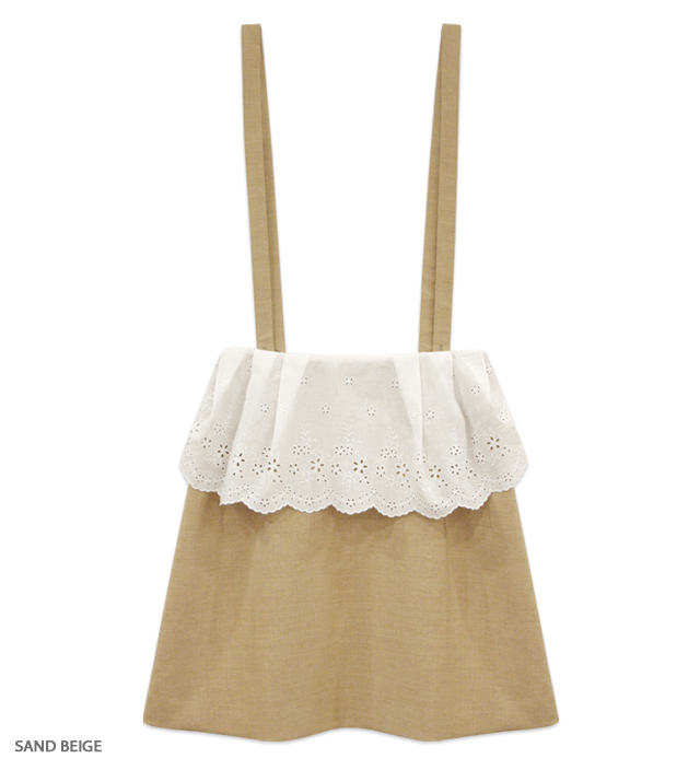 CAFE CHIC suspender skirt