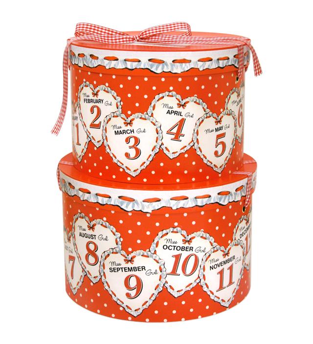 HAT BOX round MISS BIRTHDAY GIRL