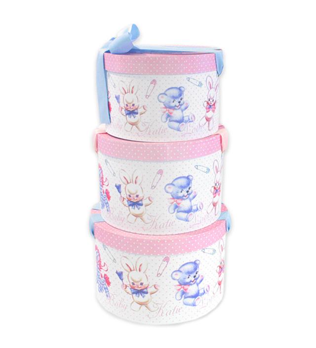 HAT BOX round BABY TOYS