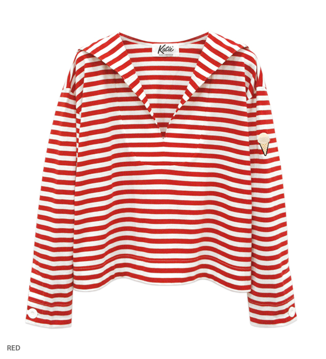 ICECREAM BORDER sailor top