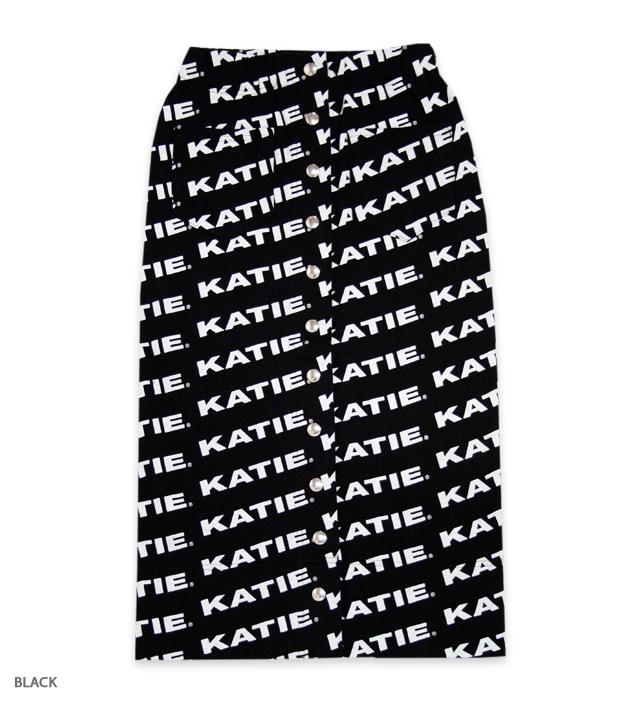 KATIE LOGO FAB tight skirt