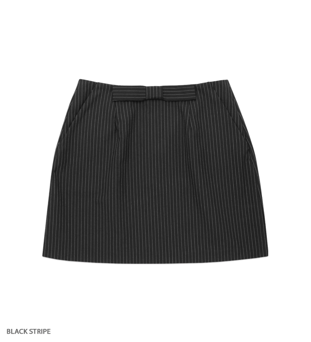 LET IT ribbon mini skirt
