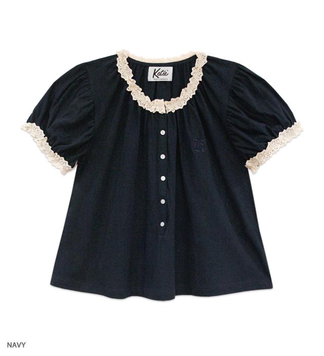 MARINE GIRL puff blouse
