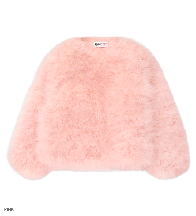 PINKY PINKY feather fur coat