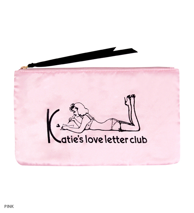 LOVE LETTER CLUB clutch bag