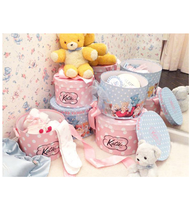 hat box round teddy bears katie official web store
