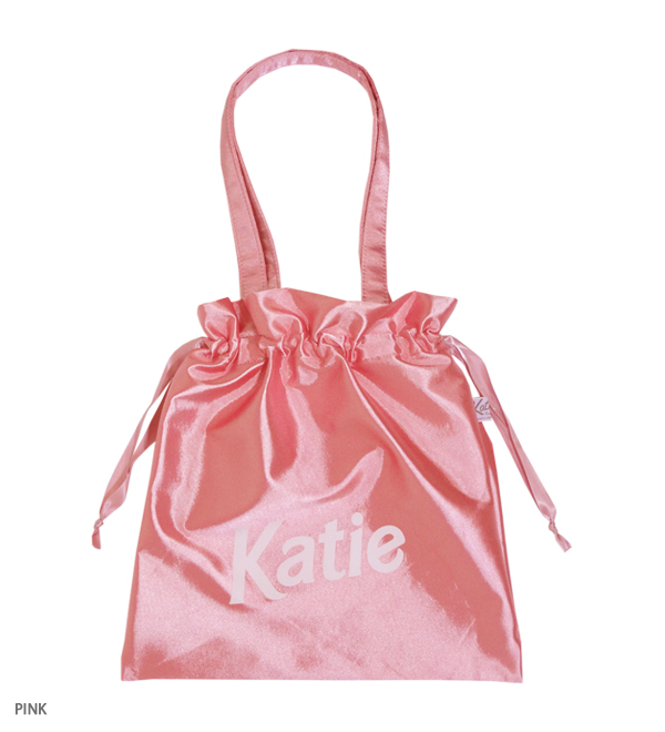 SATIN SHOPPER logo bag