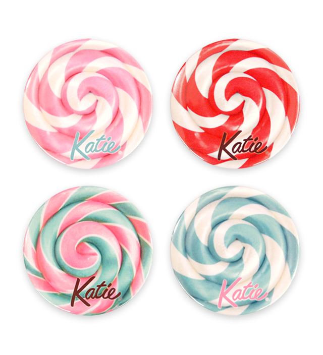 BADGE lollipop candy 75 round
