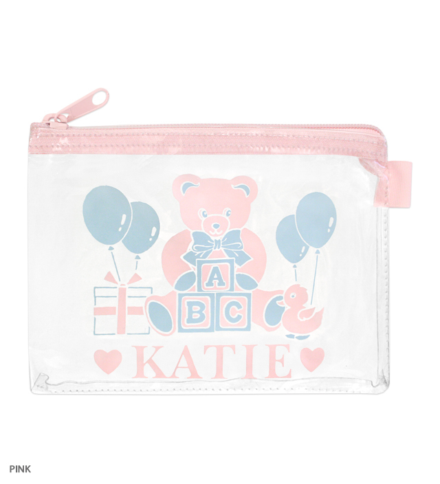 BEAR LOGO clear pouch