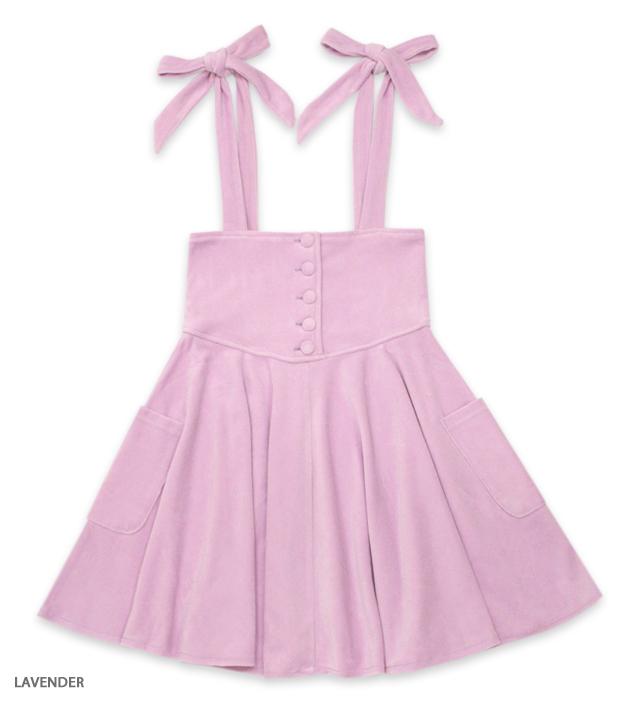 DRESS IN VELVET jumper skirt