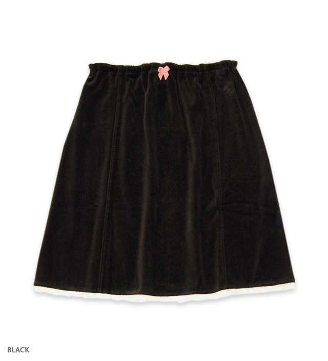 DRESS IN VELVET skirt