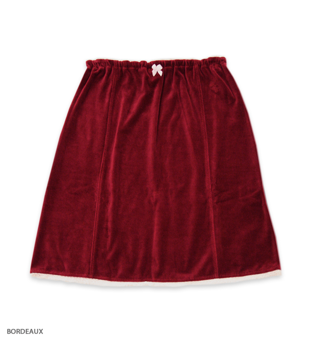 DRESS IN VELVET skirt