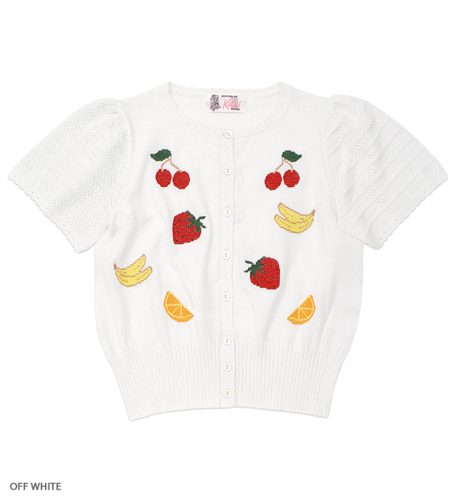 FRUITS POP puff cardigan