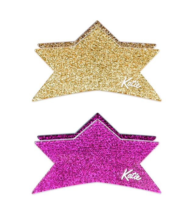 GLITTER star clip