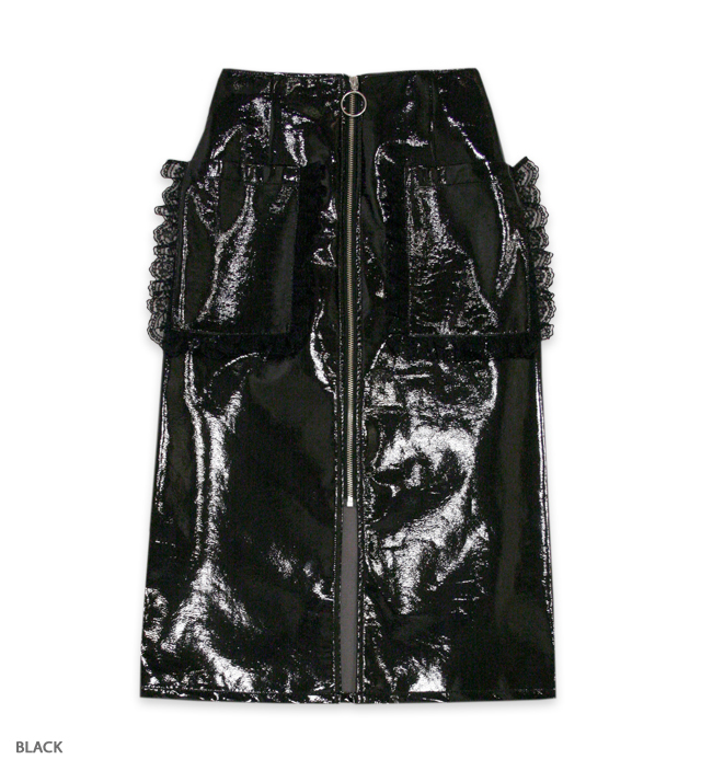 GOTH GAME zip skirt