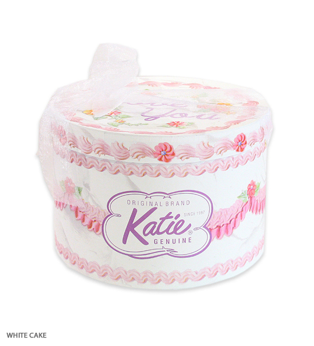 HAT BOX round WHITE CAKE