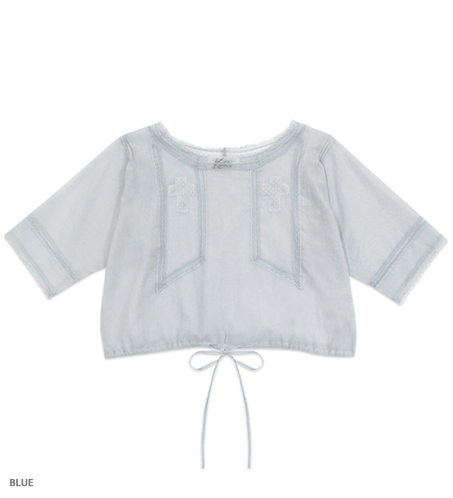 JULIET cross blouse