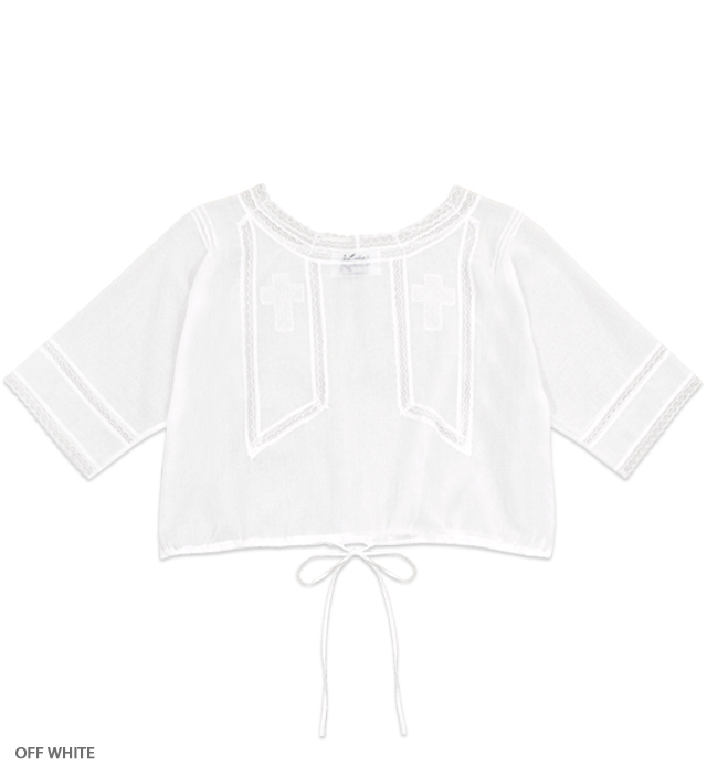 JULIET cross blouse