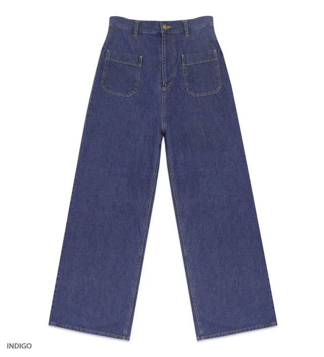 KATIE JEANS high-rise denim pants