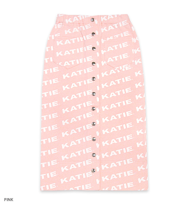 KATIE LOGO FAB tight skirt