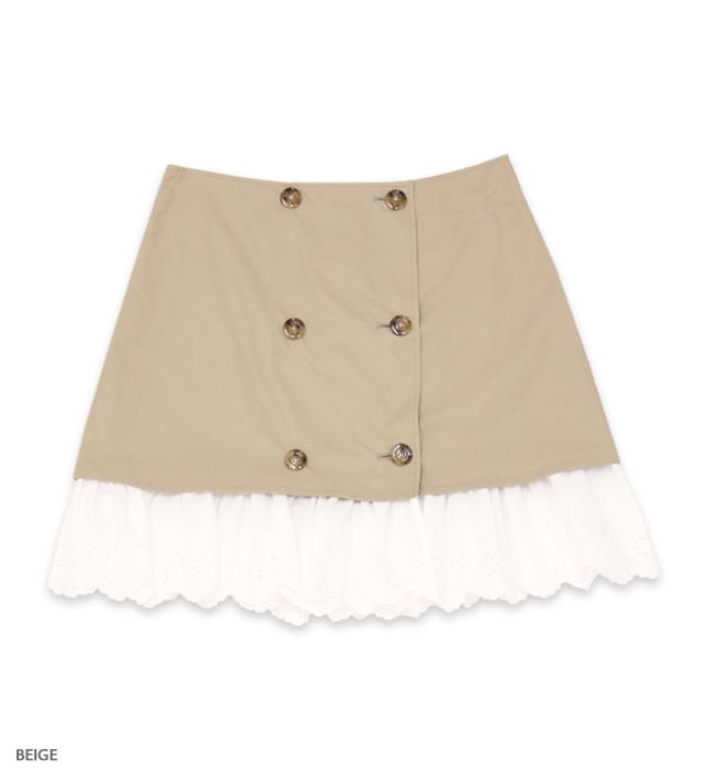 LADY SOCIETY lace rap skirt