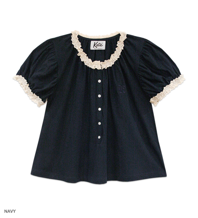 MARINE GIRL puff blouse