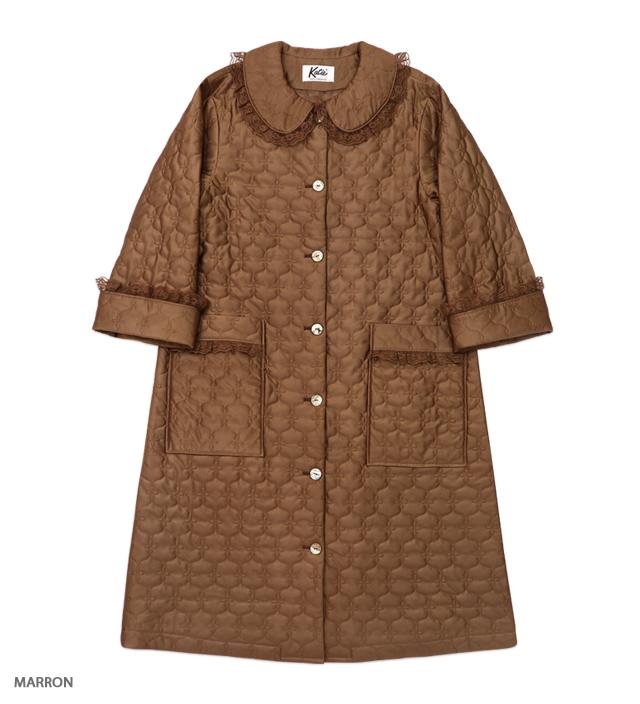 MIA FARROW quilt coat