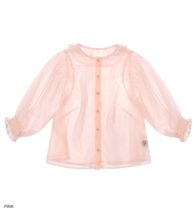 MIDNIGHT PRINCESS tulle blouse