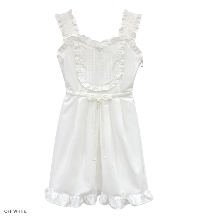 NO COUNTRY frilled mini one-piece