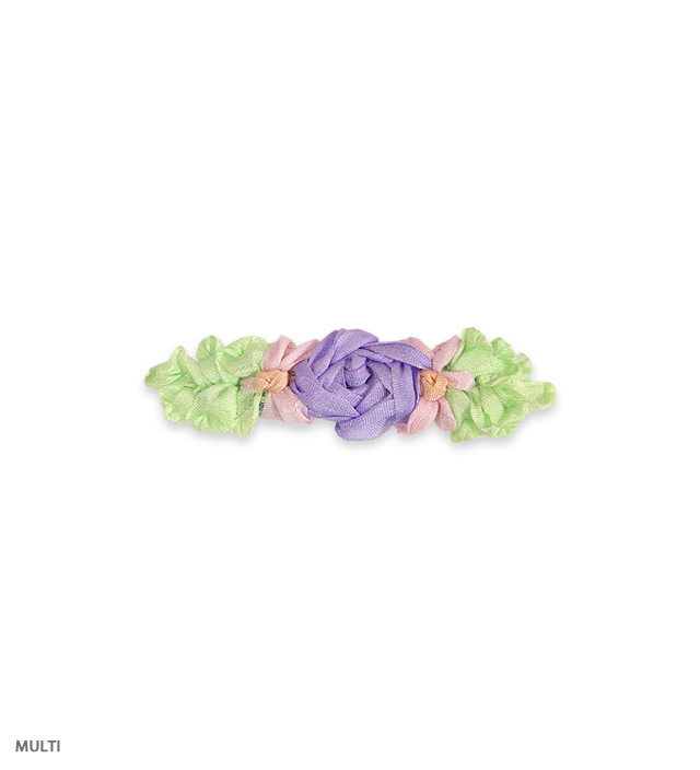RIBBON FLOWER barrette