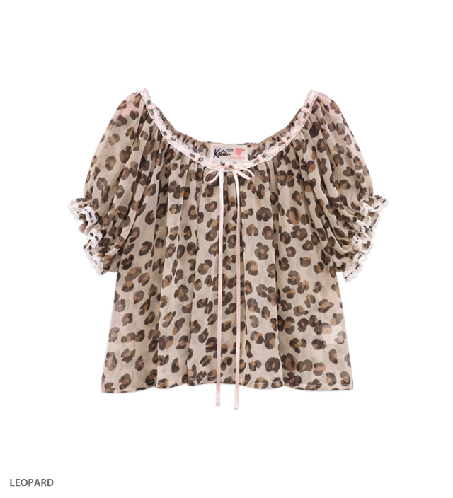 STRIPTEASE puff blouse