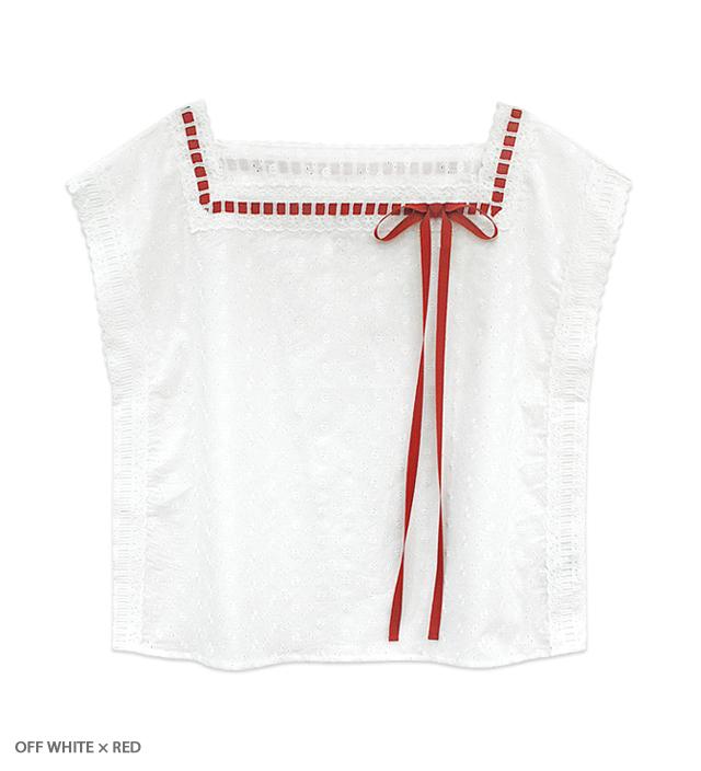 SUMMER HEROINE lacy blouse