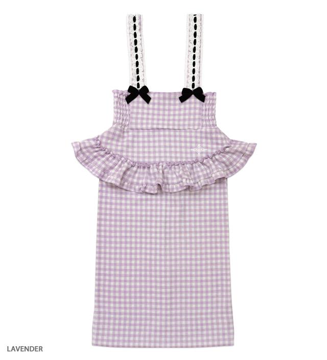 SUNDAY CHECK apron skirt