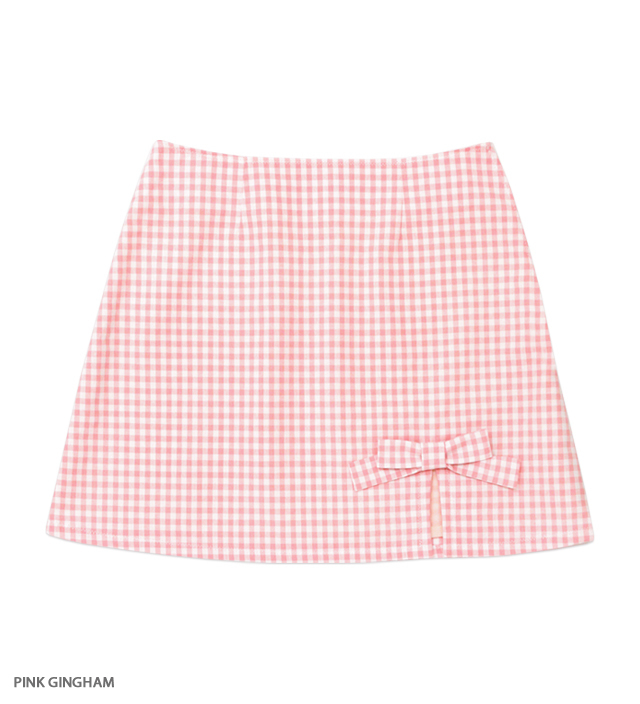 SWEET ESCAPE ribbon mini skirt