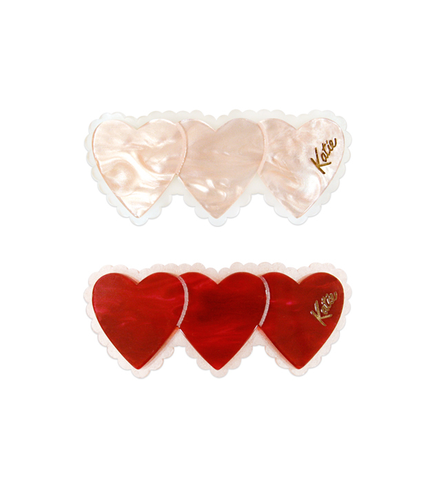TRIPLE HEART barrette