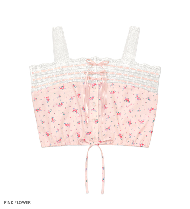 VIRGIN UP lacy camisole